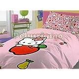 Copriletto Hello Kitty Gabel.Hello Kitty Completo Lenzuola Copriletto Una Piazza Outline Fuxia