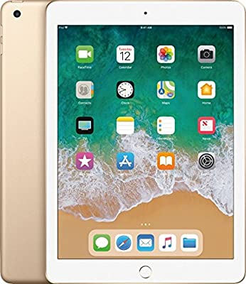 Latest Model Apple iPad A9 Chip 128GB -9.7-inch Retina Display (diagonal), A9 Chip with 64-bit Desktop-class Architecture, 8MP Camera with 1080p Video, Touch ID Fingerprint Sensor-GOLD