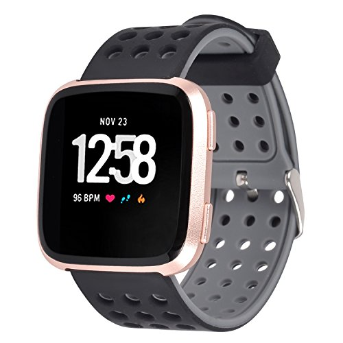 Lwsengme Compatible with Fitbit Versa Watch Bands, Sports Silicone Strap Compatible with Fitbit Versa Smart Watch