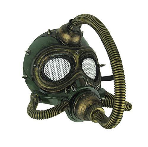 Metallic Spiked Steampunk Submarine Gas Mask -