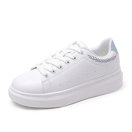 mejor valor mejores ofertas en mejor SHI Zapatos Blancos pequeños - Zapatos Deportivos cómodos ...