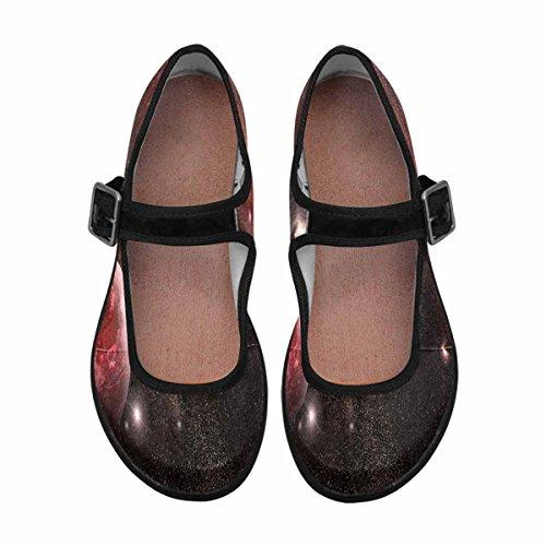 Interestprint Womens Comfort Mary Jane Flats Casual Walking Shoes Multi 2