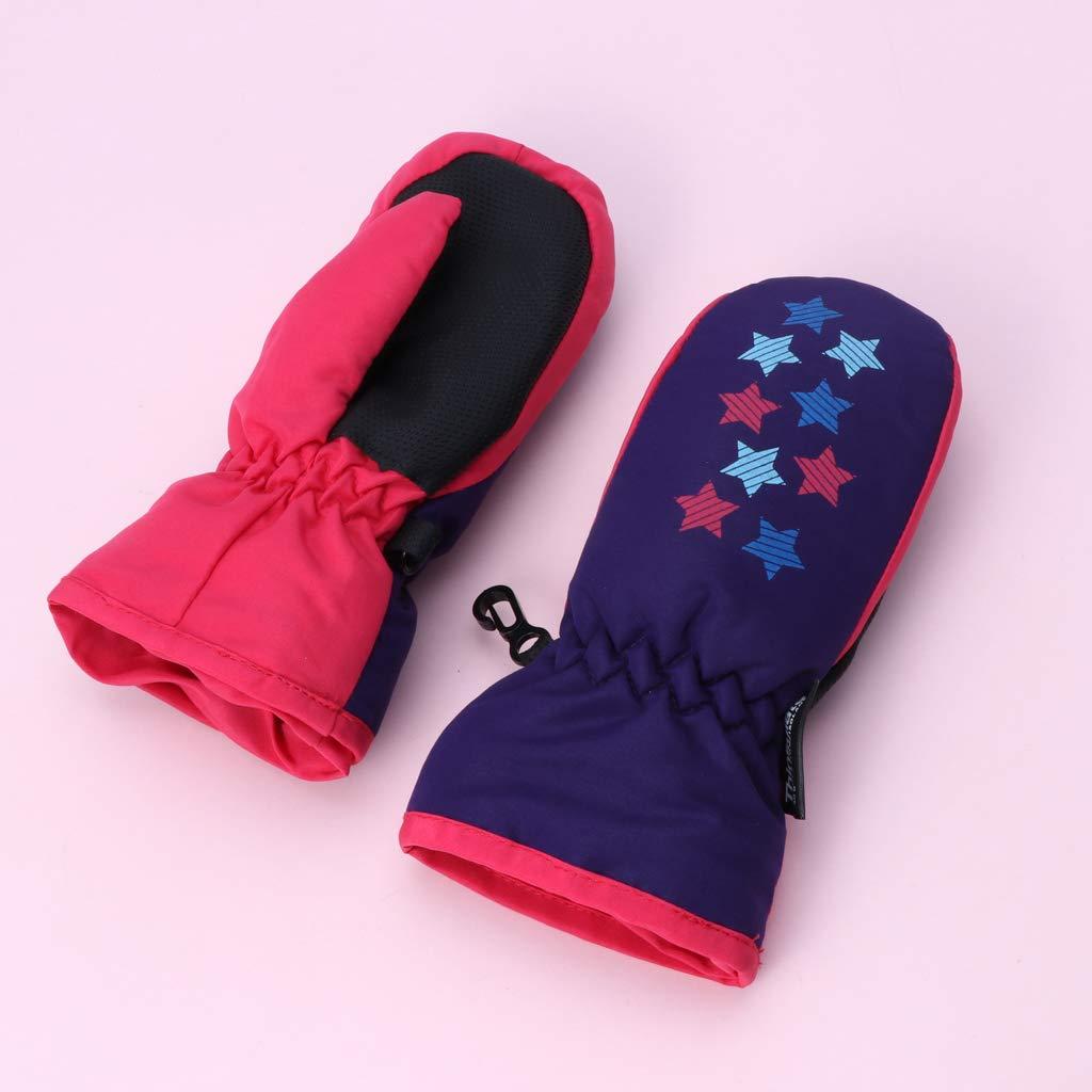 Carise Baby Ski Gloves Winter Waterproof Mittens Boy Girl Kids Children Thickening Warm