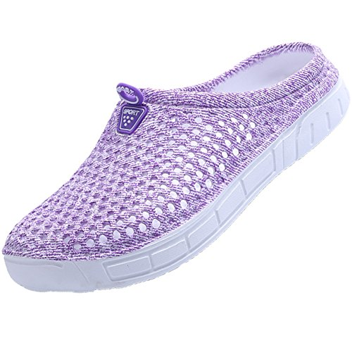 Garden Clogs (Ryanmay Unisex Breathable Comfortable&Durable Walking Garden Clogs Shoes Indoor Outdoor Slippers Quick Drying Sandals 161-Purple-41)