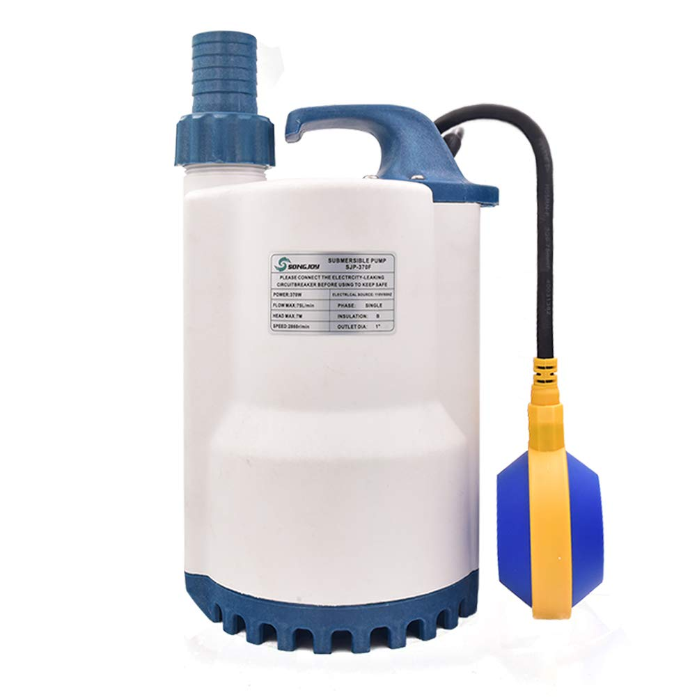 SONGJOY 1/2 HP Submersible Sump Pump 2250GPH Utility Water Pump with Float Switch For Swimming Pool Pond Basement Drainage Garden Irrigation Water Transfer by S SONGJOY