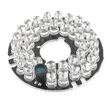 Amazon.com: eDealMax 36 LEDs rojos 60 grados cámara de visión nocturna IR Junta Ronda DE 6 mm Len: Electronics