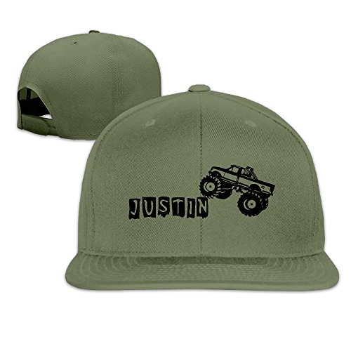 Monster Truck TruckTough Brim Hat Adjustable Flat Bill Hat One Size ForestGreen