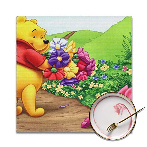 (LIUYAN Placemats Set of 4 - Winnie Pooh Place Mats for Kitchen Dining Table Decoration)