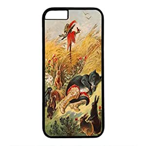 iPhone 6 Case,Fashion Durable Black Side design for iPhone 6,PC material Phone Cover,Designed Specially Pattern with Puss in Boots