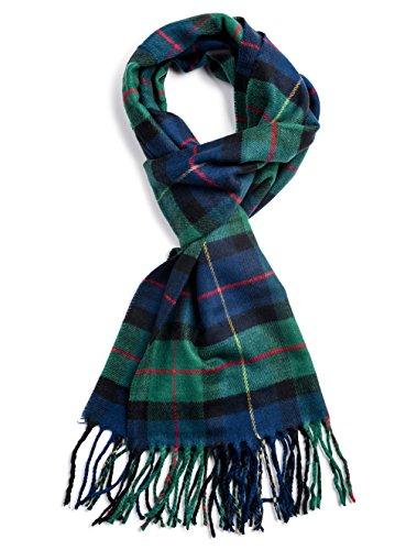 Veronz Soft Classic Cashmere Feel Winter Scarf, Holiday Tartan]()