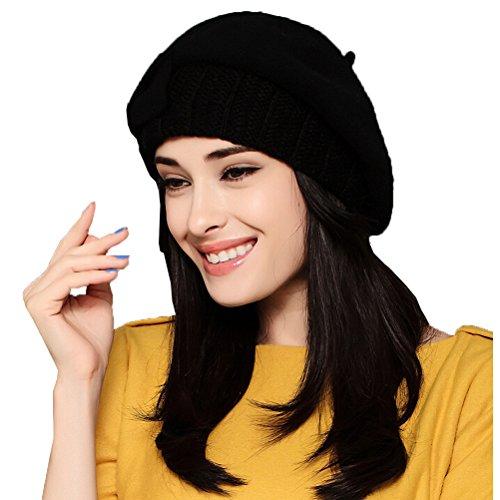 "Maitoseâ""¢ Women's Autumn And Winter Wool Beret Black"