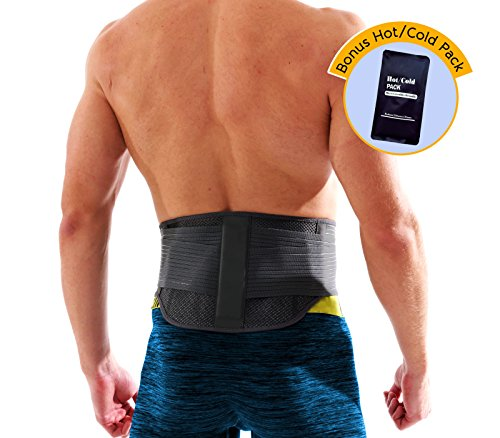 - Lumbar Support Back Brace by MotuFit | Magnetic Therapy | Large Pocket for Hot Cold Pack | May Relieves Pain from Sciatica, Scoliosis, Muscle Spams