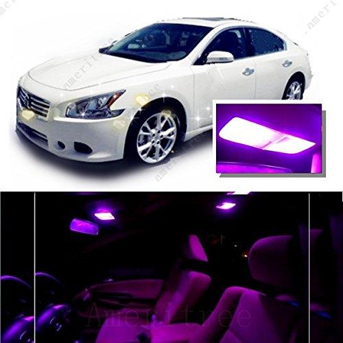 UPC 706084651465, Ameritree Nissan Maxima 2009-2014 ( 11 Pcs ) Pink / Purple Premium LED Lights Interior Package + Pink / Purple LED License Plate Kit