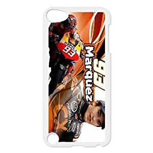 Back Skin Case Shell Ipod Touch 5 Cell Phone Case White Marc Marquez Bkgqg Pattern Hard Case Cover