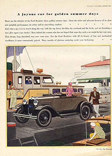 - A joyous car for golden summer days Ford Model A Roadster ad 1930 McC