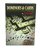 Toyland® 2 In 1 Games - Double Six Dominoes & 2 Packs of Playing Cards - Family Games - Classic Board Games
