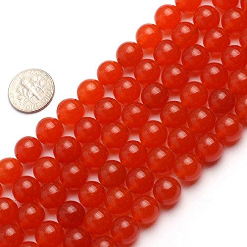 10mm Round Gemstone Orange Jade Beads Strand 15 InchJewelry Making Beads
