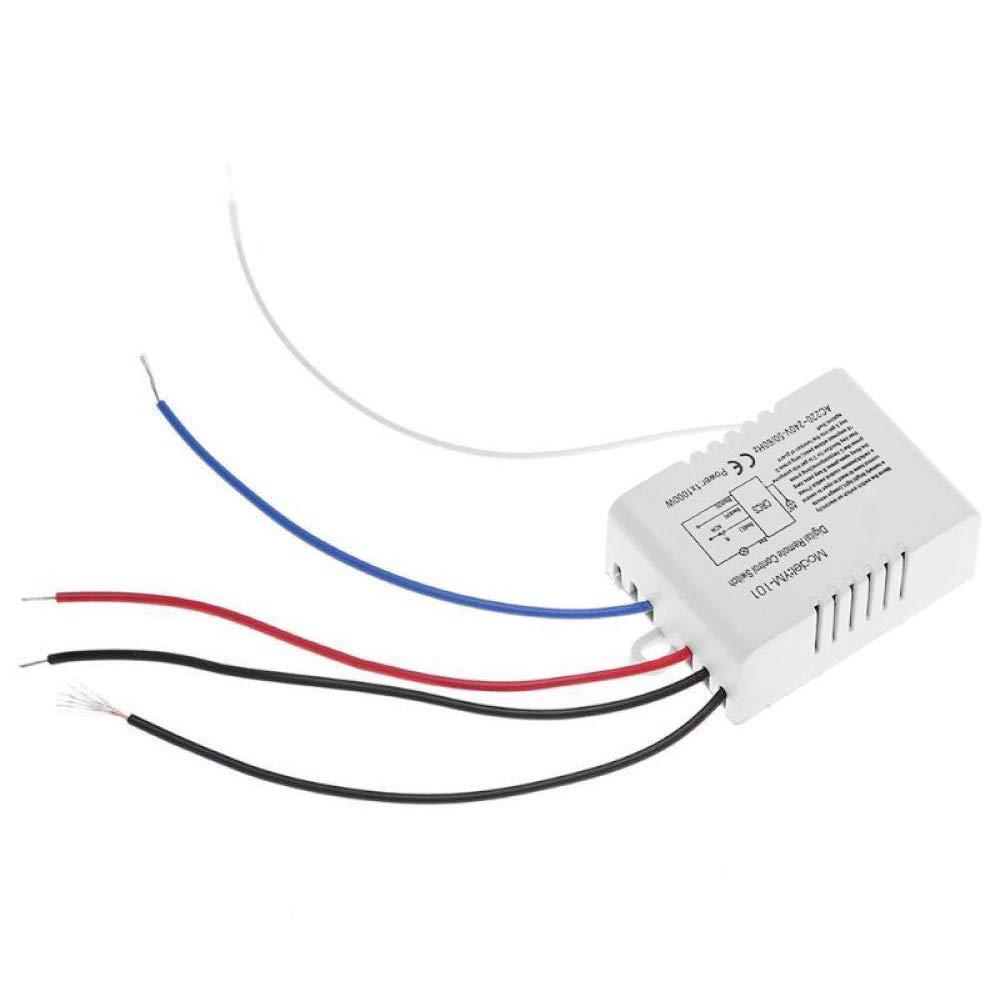 ACAMPTAR Canal con Transmisor Digital 220V Encendido//Apagado 1 Interruptor Receptor De Rel/é Inal/ámbrico L/ámpara Luz De Control Remoto