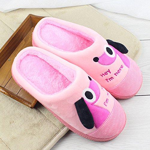 Casa Nuevas 2017 Pink Invierno Las De grey Zapatillas Xing Invierno Guang Algodón HBRqRw