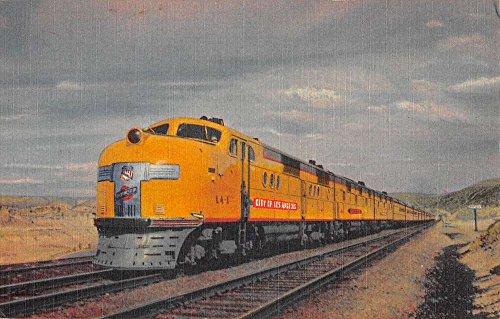 union-pacific-steamliner-train-city-of-los-angeles-antique-postcard-k55788