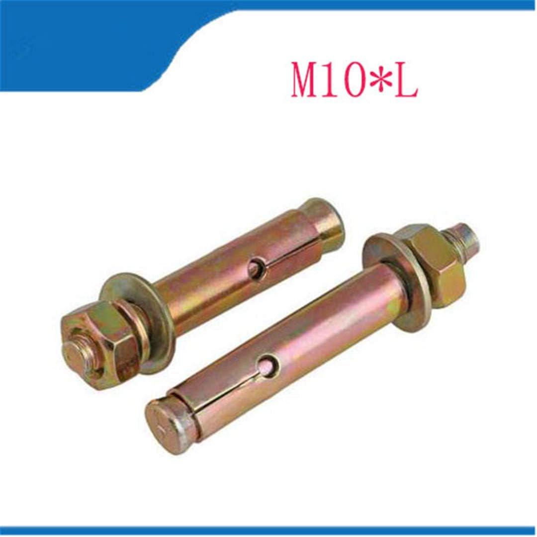 4Pcs//Lot M650-80 M850-100 M1060-120 Iron Plating Color Zinc Expansion Bolts Expansion Screws Car Screw M10 x 60 4pcs