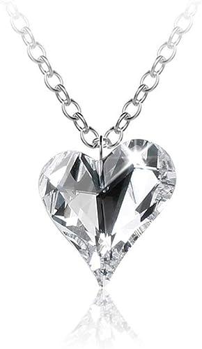 LOUMI - Collier Femme pendentif cœur avec Chaine argent femme 40 cm –  Collier argent 925 femme orné d'un médaillon perle Swarovski en forme de  cœur ...
