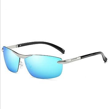 Gafas De Sol Polarizadas Para Hombres Aluminio Magnesio Metal Half Frame Decoloration Gafas De Sol Ladies Baseball Footing Ciclismo Pesca Conducción Golf ...