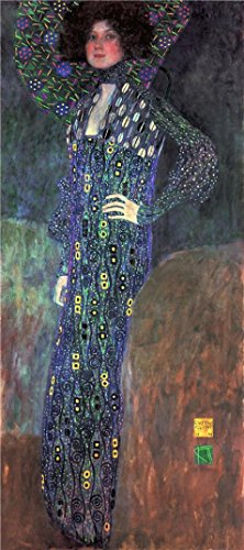 Thailand National Costume Female (Oil Painting 'Gustav Klimt-Emilie Flge,1902' Printing On Perfect Effect Canvas , 8x18 Inch / 20x46 Cm ,the Best Powder Room Artwork And Home Decoration And Gifts Is This High Resolution Art Decorative Canvas Prints)