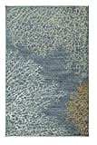 coastal living rooms Mohawk Home Strata Coral Reef Coastal Printed Area Rug, 5'x8', Blue