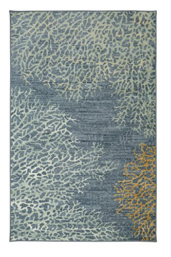 Mohawk Home Strata Coral Reef Coastal Printed Area Rug, 5'x8', Blue (Tropical Coral Rug)