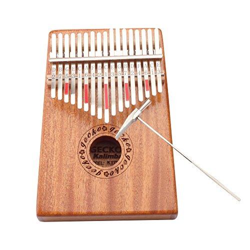 Gecko Kalimba 17 Key with Mahogany,Portable Thumb Piano Mbira/Marimba Sanza of Wooden Attached Ore Metal Tines - Image 7