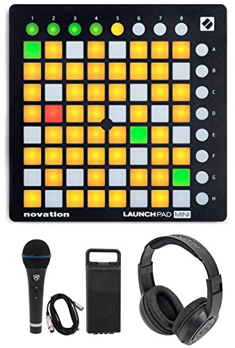Sale!! Novation LAUNCHPAD MINI MK2 MKII USB MIDI DJ Controller+Mic+Headphones