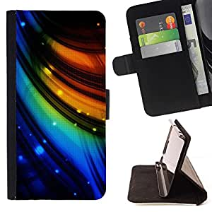 DEVIL CASE - FOR LG Nexus 5 D820 D821 - Color Swirls Abstract - Style PU Leather Case Wallet Flip Stand Flap Closure Cover