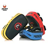 Cheerwing PU Leather Strike Shield Curved Focus Training Target Punch Mitt Karate Muay Thai Pad...