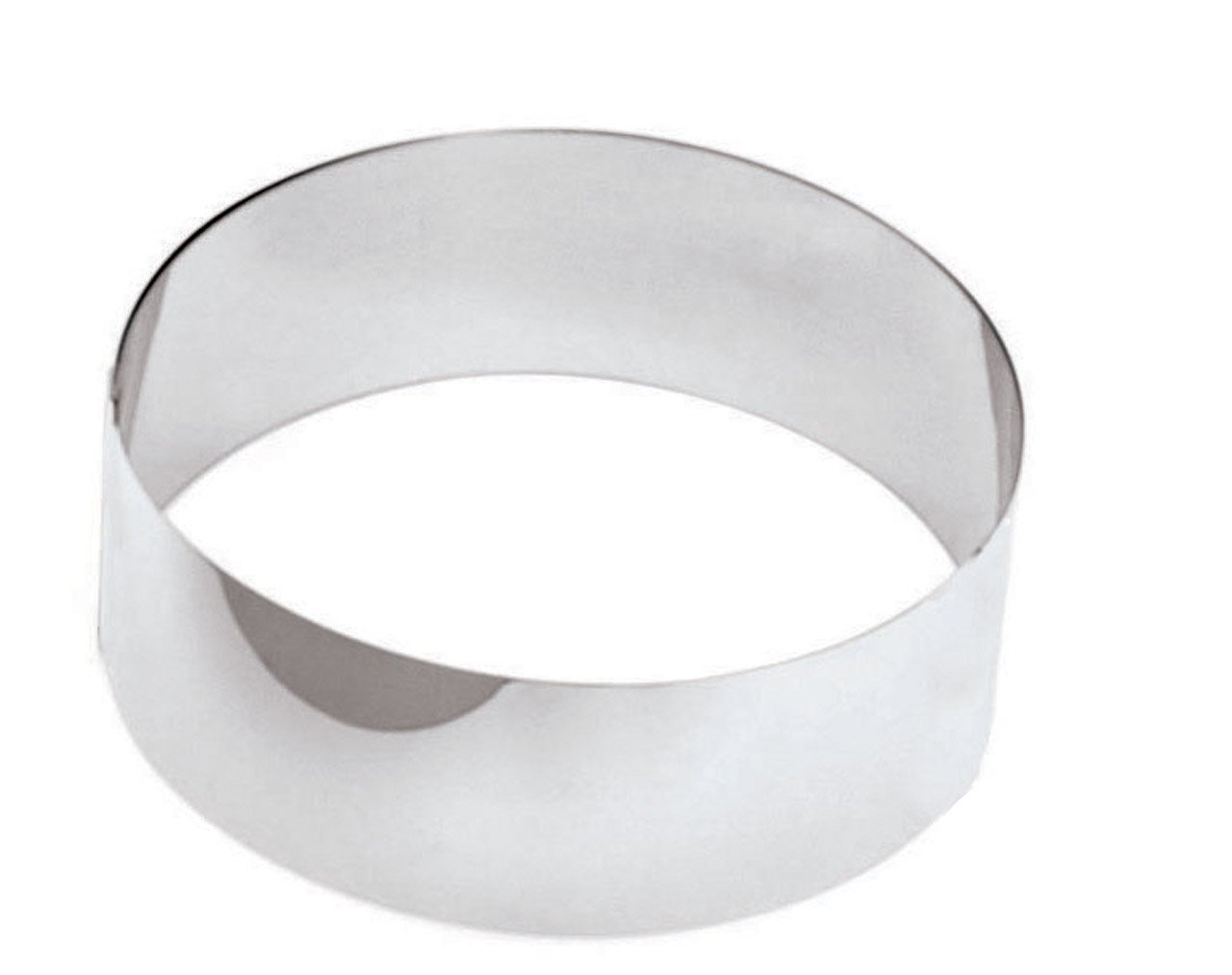 Paderno World Cuisine 4 Inch by 1 3/4 Inch Mousse Pastry Ring