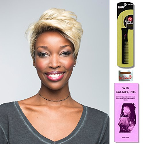 Rebel by Revlon, Wig Galaxy Hair Loss Booklet, Wig Cap & Magic Wig Styling Comb/Metal Pick Combo (Bundle - 3 Items), Color Chosen: Burnt Chili Revlon Hair Wigs