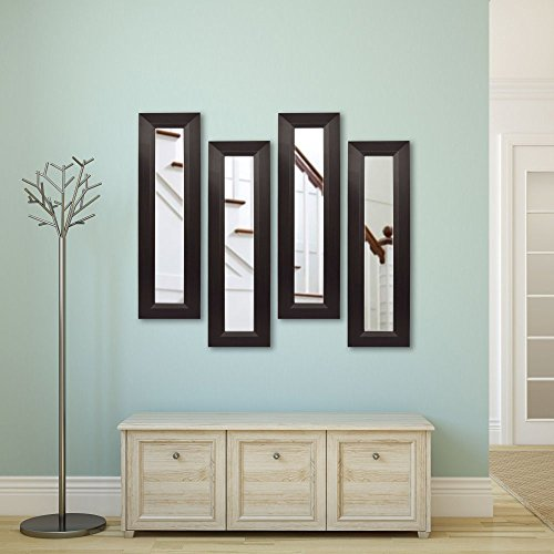 UPC 683318670037, Rayne Mirrors Molly Dawn Dark Walnut Wall Mirror, 4 Panels, 9.75W x 25.75H in.