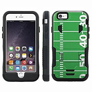 [ArmorXtreme] Hybrid Rugged Armor Design Image Protect Case With Kickstand (Football Field) for Iphone 6 Plus (5.5)
