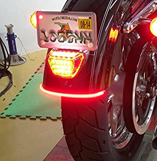 Pr led strip tail light turn signal brake indicator for all universal flexible 32led motorcycle light strip tail brake stop turn signal light license plate lamp 8 aloadofball Image collections