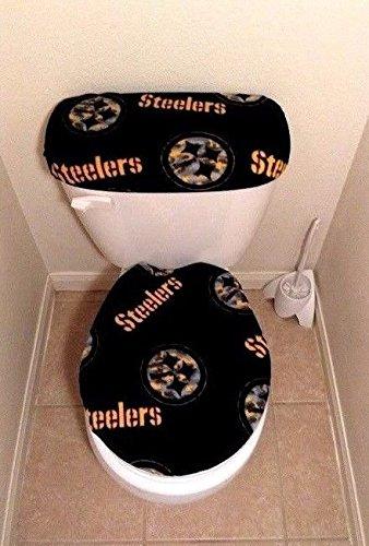 Pittsburgh Steelers Camo Fleece Fabric Toilet Seat Cover Set 2PC