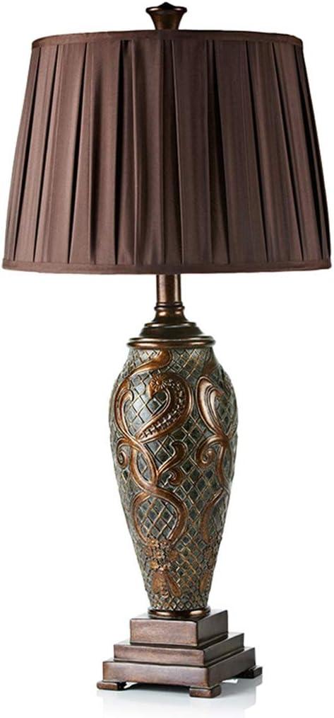 Lampe de table européenne de luxe rétro chambre américaine