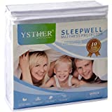 YSTHER Waterproof Hypoallergenic Mattress Protector / Cover, Vinyl Free, King Size