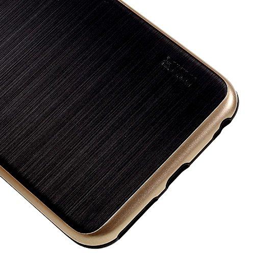 MOFI Brushed TPU + PC Rim Back Phone Tasche Hüllen Schutzhülle Case für iPhone 6s 6 - Gold