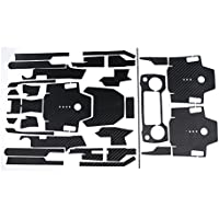 Teepao Skin for DJI Mavic Pro Luxury Precision DIY Carbon Fiber Decals Waterproof Stickers Drone Transmitter Battery Full Covers Set - Black