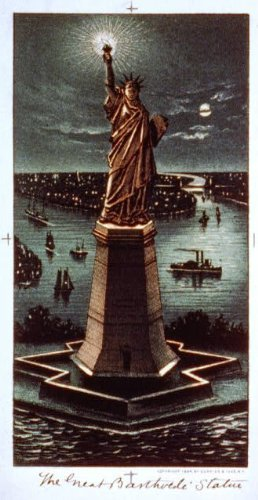 Calendar Currier & Ives Prints (Photo: Great Bartholdi statue,c1884,Currier & Ives,Photograph,Statue Of Liberty,ships 1)