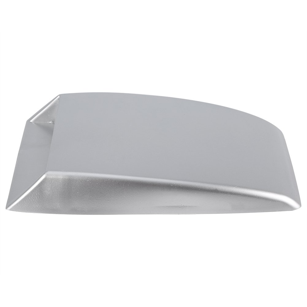 Qiilu Universal Car Decorative Air Flow Intake Scoop Bonnet Vent Sticker Cover Hood Silver