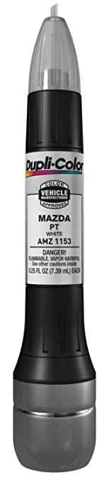 Amazon.com: Dupli-Color AMZ1153 White Mazda Exact-Match Scratch ...