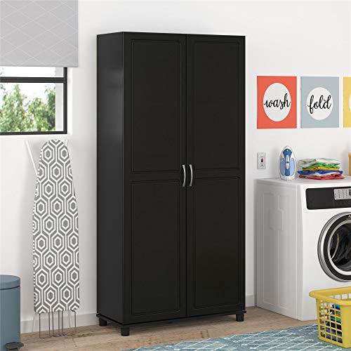 Buy shoe cabinets with doors and shelves black