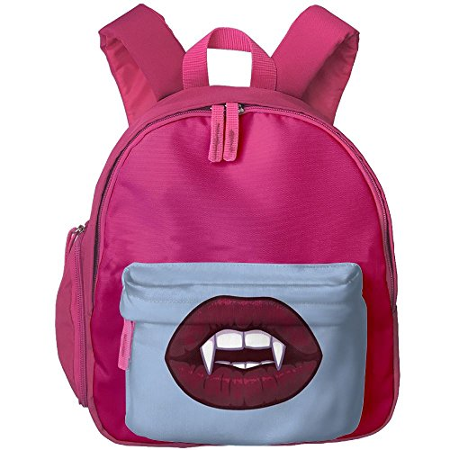 Vampire Kiss Kid Girl Lovely School Bag Bookbag Personalized Outdoors Shoulders Bag Backpacks 12.5