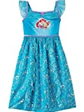 The Little Mermaid Ariel Girls Nightgown Pajamas (4, Ariel Blue)